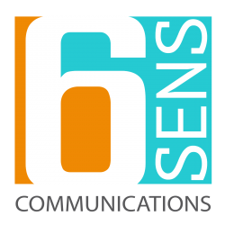 logo de 6 sens communication agence marketing et WEB