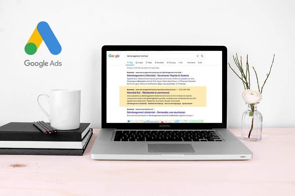 campagne google Ads fait par une agence WEB